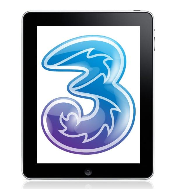 Three Mobile Announce UK iPad Data Plans