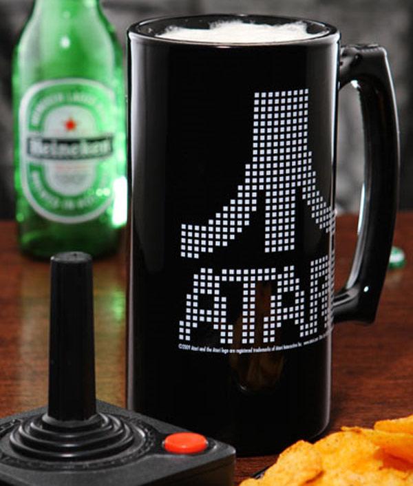 Atari Pixel Logo Beer Stein