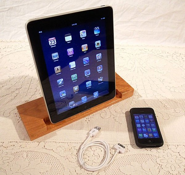 Custom Wooden iPad Docks