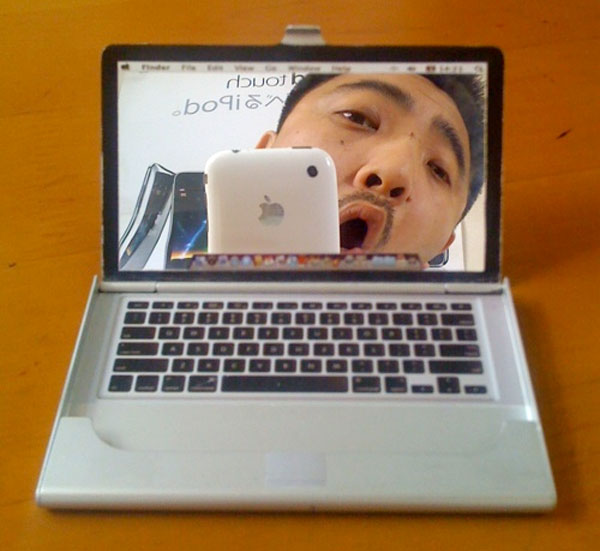 MacBook Pocket Mirror Business Card Holder