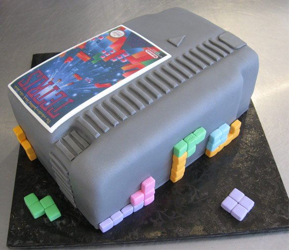 Nintendo Tetris Game Cartridge Cake