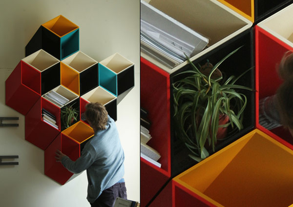 Optical Illusion Shelves