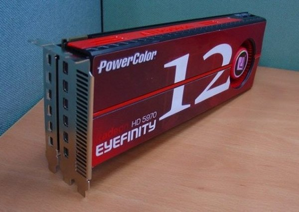 PowerColor Eyefinity12 HD 5970 Graphics Card Supports Twelve Monitors