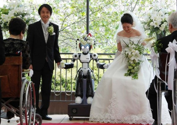 Robot i-Fairy Marries Couple In Japan