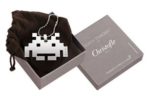 Space Invaders Silver Necklace