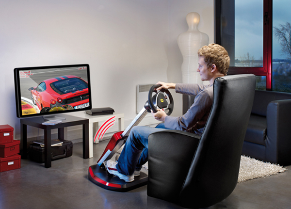 Thrustmaster Ferrari GT Cockpit 430 Scuderia Edition PS3 And PC Racing Controller