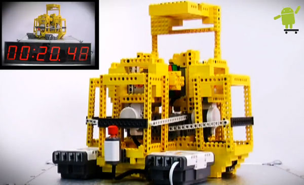 Android Powered Lego Robot Solves Rubiks Cube In 24 Seconds