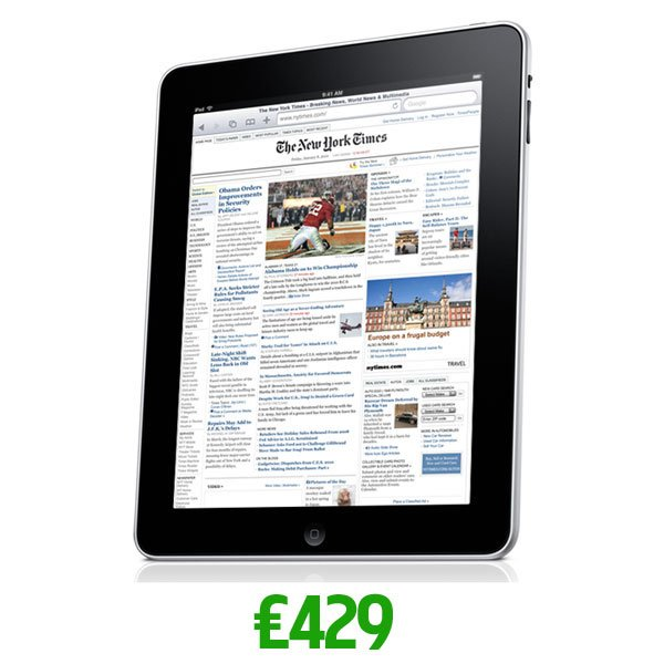 How Much Will The iPad Cost In the UK? £429