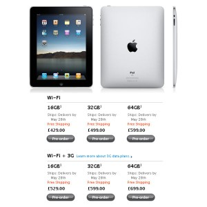 Apple iPad UK Pre-Orders Set Back to June 7th