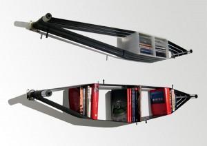 Recycled Bike Tube Shelves