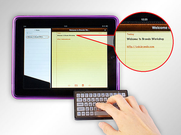 Brando's Slim Bluetooth Keyboard Works On The iPad