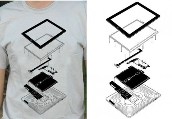 The Exploded iPad T-Shirt