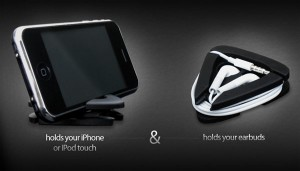 iAngle iPhone And iPod Stand Also Holds Your Headphones