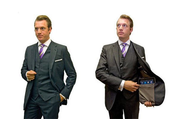 Custom Suits With Built In iPad Pocket
