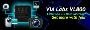 VIA Labs Announces VL800 USB 3.0 Host Controller