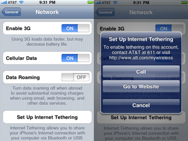 AT&T iPhone Tethering Pricing Announced