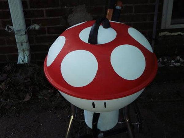 The Mario Mushroom Barbecue Grill