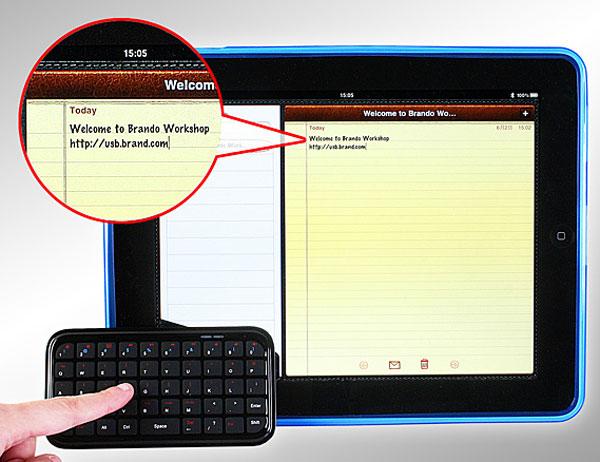 Mini Palm Sized iPad Bluetooth Keyboard
