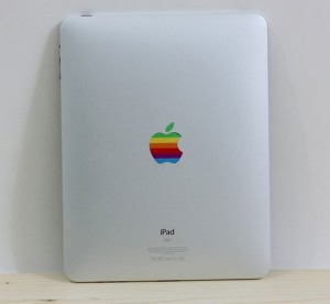 Give Your iPad A Retro Look With The Rainbow Apple Logo iPad Decal