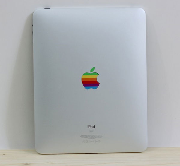 Give Your iPad A Retro Look With The Rainbow Apple Logo iPad Decal