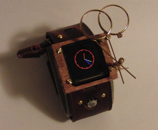 Steampunk Arduino Watch Plays Breakout