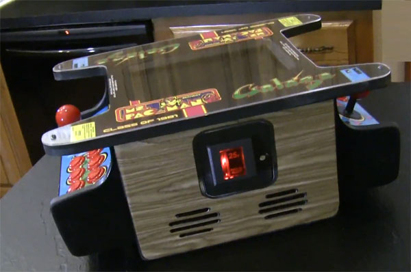 Mini Ms. Pac Man / Galaga Cocktail MAME Arcade System