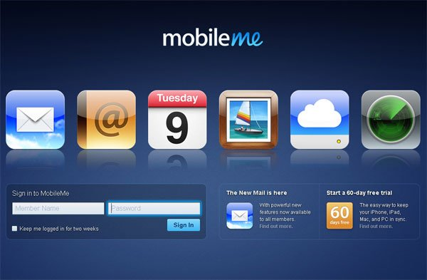Apple's New MobileMe Mail Now Available