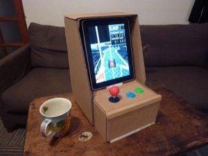 cardboard ipad arcade