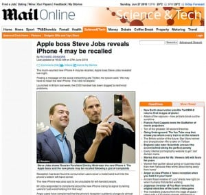 The Daily Mail Quotes Fake Steve Jobs In iPhone 4 Recall Story