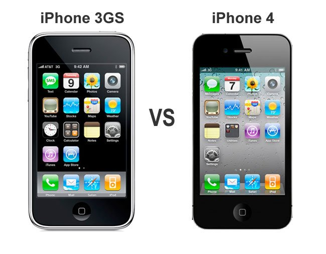 iphone 3gs vs iphone 4