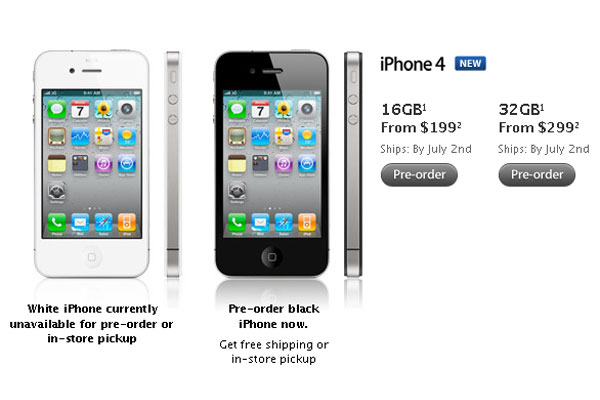 AT&T iPhone 4 Pre-Orders Sold Out