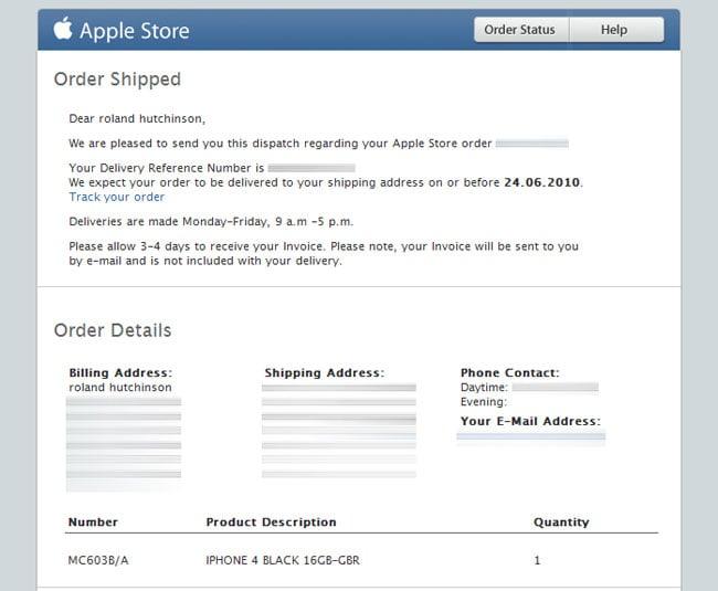 iPhone 4 UK Pre-Orders Begin Shipping