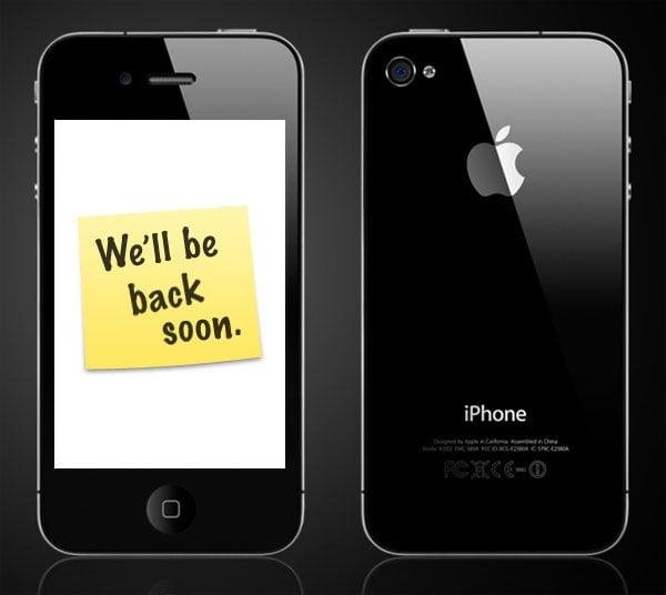 Apple Store Down iPhone 4 Pre-orders To begin Soon