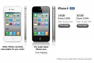 iPhone 4 UK New Pre-Orders Shipping July 2nd