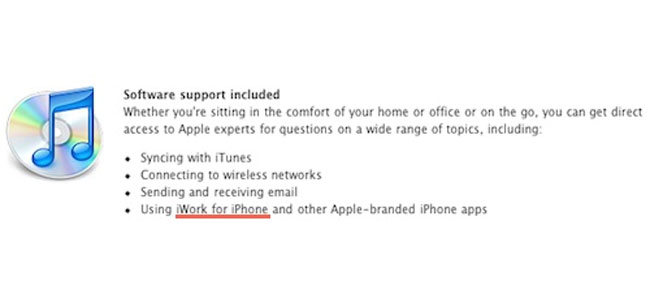 iWork For iPhone 4 Shows Up On Apple's Site