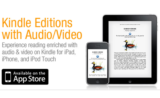 Amazon Adds Audio And Video To Kindle iPad And iPhone Apps