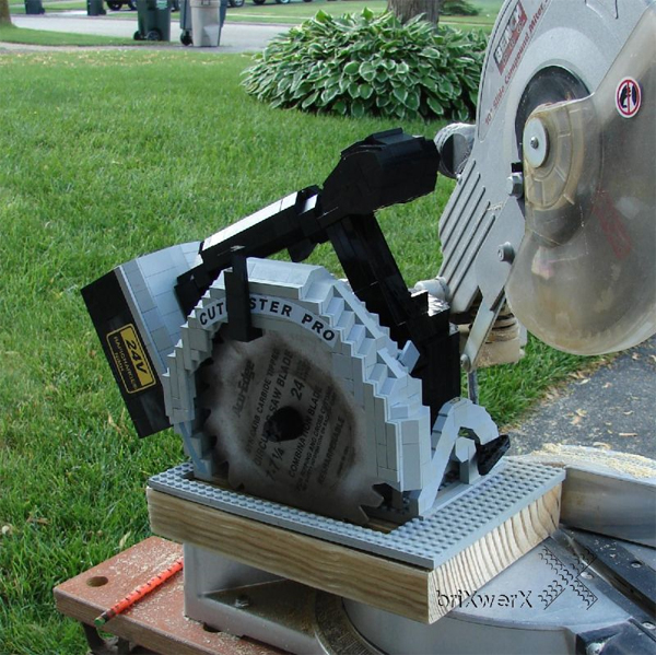Lego Circular Saw Actually Works (Video)