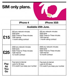 Three iPhone 4 UK Tariffs And Pricing Announced