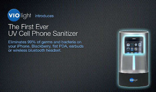VIOlight Sanitizes Phones for Germophobes