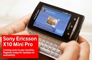 Sony Ericsson X10 Mini Pro Headed To Vodafone UK