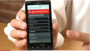 Adobe Demos Flash 10.1 On Droid X