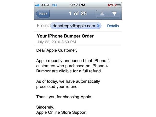 Apple Bumper Refund