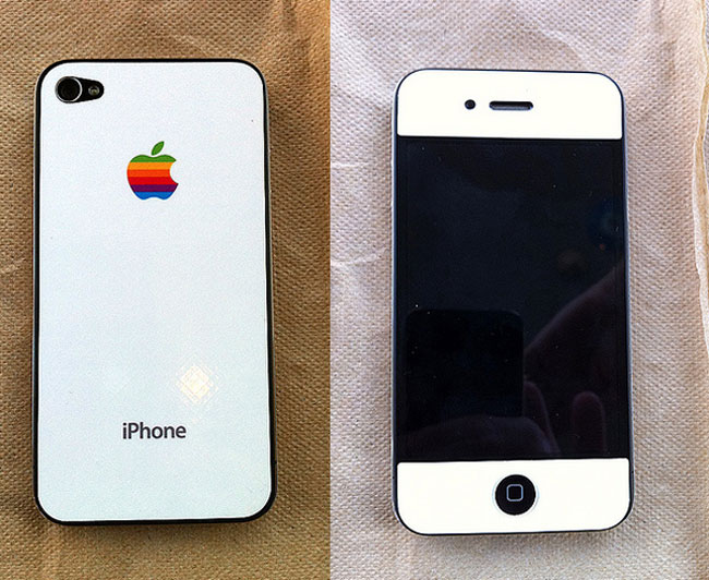 Awesome White iPhone 4 Skin