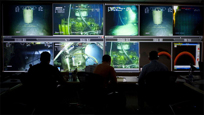 BP Post Fake Oil Crisis Command Centre Photo