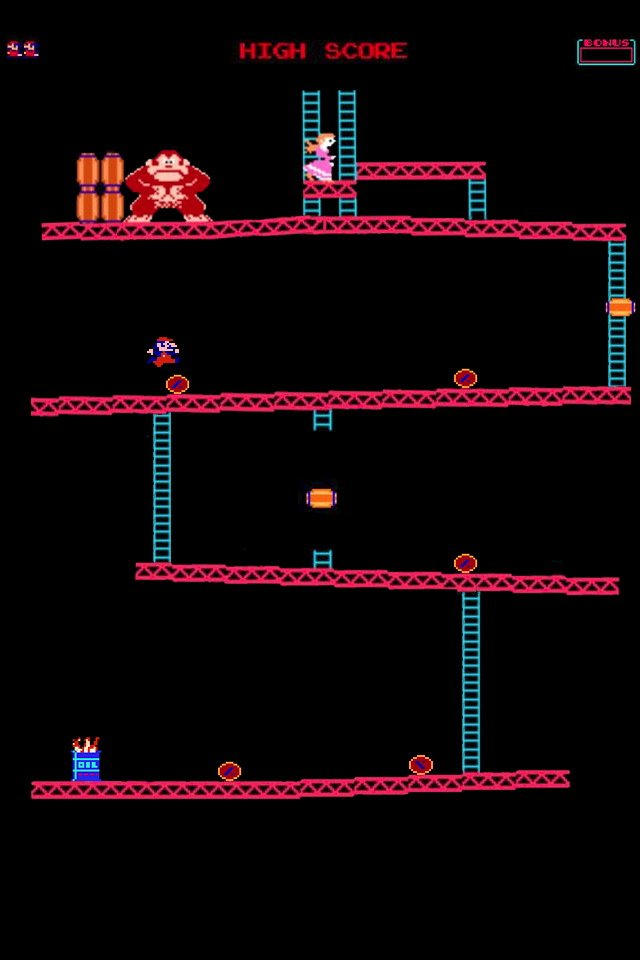 Donkey Kong iOS 4 iPhone 4 Wallpaper