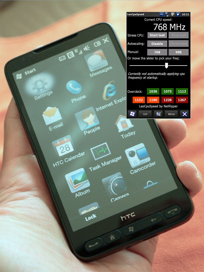 overclock your htc hd2 with leo auto cpu app rh geeky gadgets com HTC Phones 2014 HTC G1