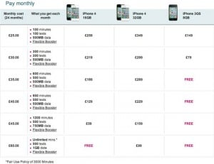 iPhone 4 UK T-Mobile Pricing Released