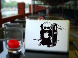 The Skateboard MacBook Decal