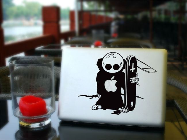 The Skateboard MacBook Decal