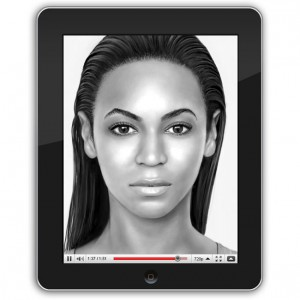 Beyonce Portrait Created Using Apple iPad